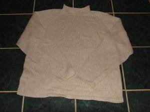 Womens J Crew Cream Mock Neck Sweater sz Large