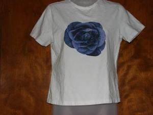 Womens Anne Klein Rose Flower Shirt sz M EUC Spring