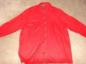 Womens Lauren by Ralph Lauren 3/4 Sleeve Shirt 2X Silk
