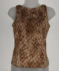 Womens NY&CO Snakeskin Print Tank Shirt sz Small Built in Bra