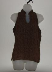 Women's Old Navy Brown ZigZag Tank Shirt sz M EUC