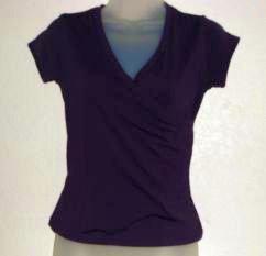 Womens Purple Express Criss Cross Front Shirt sz Small EUC