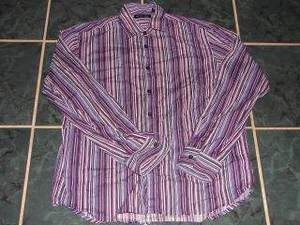 Womens KENNETH COLE Striped Button Shirt sz M Fall Work