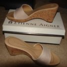 Womens Like New Etienne Aigner Slides w/box sz 8