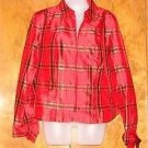 NEW Womens Plaid Coldwater Creek Shirt sz Medium