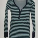 Jrs. Aeroposale Blue Stripe Henley sz Small
