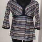 Motherhood Maternity Striped 3/4 Sleeve Shirt sz Medium