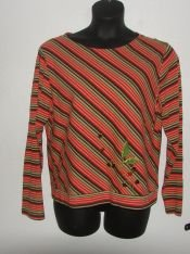 Womens Michael Simon Bold Striped Shirt sz XL