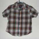 Boy's The CHildren's Place Plaid Button Down Shirt sz 3T