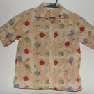 Boys Gymboree Route 66 Short Sleeve Button Down Shirt sz 3T