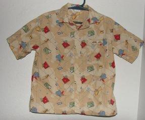 Boys Gymboree Route 66 Short Sleeve Button Down Shirt sz 3T