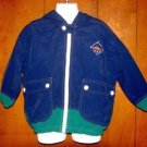Boys Kitestrings Blue/Green Nautical Hooded WIndbreaker Jacket sz 4 VGC