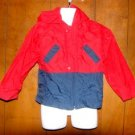 Boys Red/Blue Okie Dokie Windbreaker Jacket sz 4/4T
