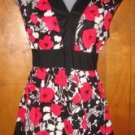 Womens Cato Floral Print Sleeveless Shirt sz Small