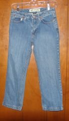 Womens Gap Bootcut Stretch Denim Capris sz 4 VGC