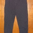 Womens Lauren By Ralph Lauren Blue/White Polka Dot Pants sz 10 EUC