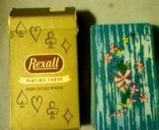 Vintage Rexall Advertising Playing Cards