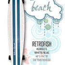 Longboard - RetroFish Tail Beach Board - White/Marine Blue KL0011-1
