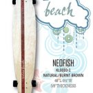Longboard - NeoFish Tail Beach Board - Natural/Burnt Brown KL0010-1