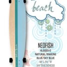 Longboard - NeoFish Tail Beach Board - Natural/Marine Blue/Sky Blue KL0010-0