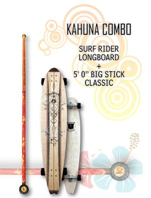"Kahuna Combo: Surf Rider Longboard + Big Stick Classic 5' 0"""