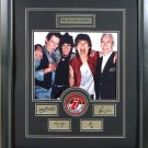 ROLLING STONES CUSTOM FRAMED ENGRAVED SIGNATURES COLLAGE