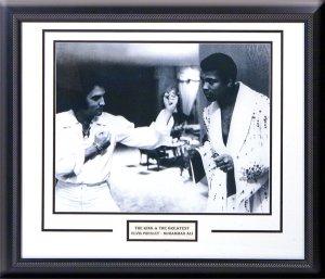 Muhammad Ali & Elvis Presley custom framed photograph