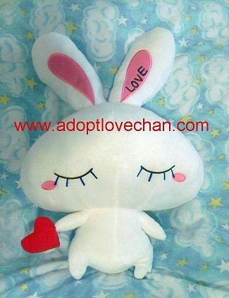 Plush Stuffed LOVE-Chan Ai Otsuka Bunny Rabbit Large 19""