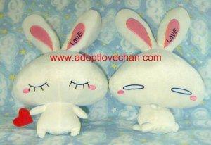 Set of Plush Stuffed LOVE-Chan - Ai Otsuka Bunny Rabbit