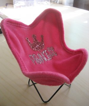 Pink Princess Cell Phone Chair