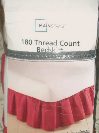 Tuscan Rose Queen Bedskirt Dust Ruffle Bed Skirt