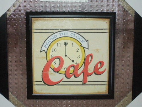 Cafe Kitchen Plaque Wall Decor Framed