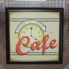 Cafe Kitchen Plaque Wall Decor Framed