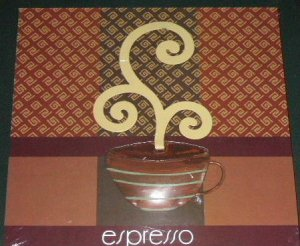 Espresso Wall Decor Wood and Metal Coffee Cup Plaque