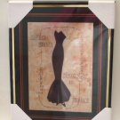 French Evening Gown Framed Print Paris Decor