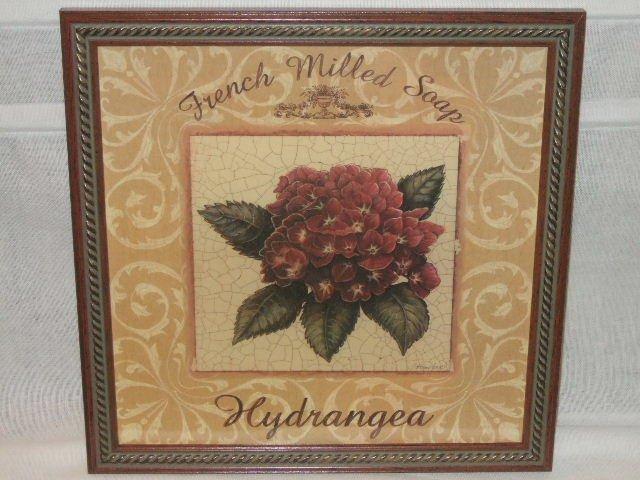 Home Interiors Floral Hydrangea Framed Print