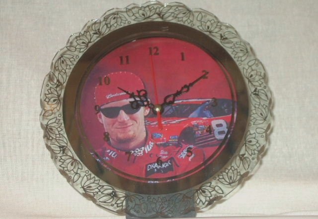Dale Earnhardt Jr. Clock Mirrored Collectible With Lights