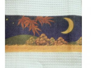 Tropical Palm Trees Kitchen Towels Moon Stars