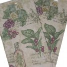 Barth and Dreyfuss Tuscan Kitchen Towels Grapes Olives