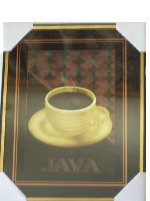 Coffee Themed Kitchen Wall Decor Java Picture