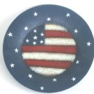 Rustic Stars Stripes Americana Candle Holder Plate