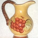 Grapes Decorative Pitcher Hand Painted