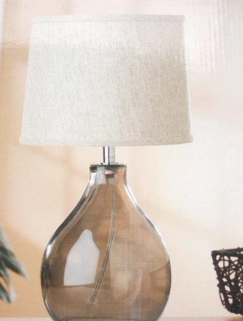 Contemporary Glass Lamp and Shade Modern Home Decor