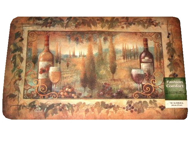 Tuscan Themed Kitchen Rug Foam Mat