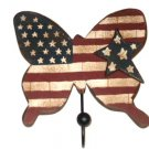 Americana Patriotic Butterfly Wall Hook