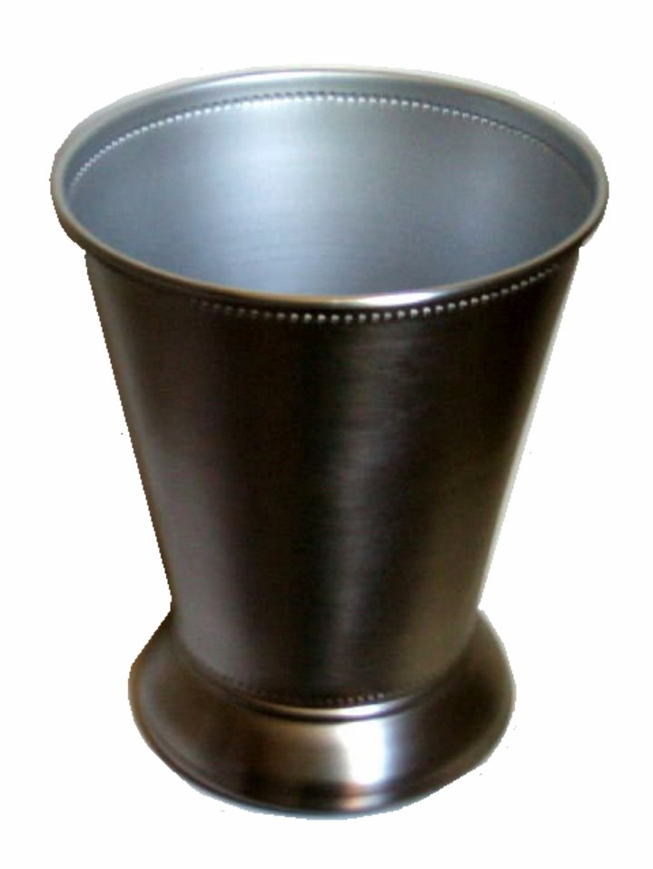 Modern silver metal wastebasket bathroom trash can for Bathroom garbage can
