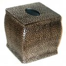 Cannon Faux Hammered Metal Resin Tissue Box Cover