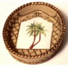 Palm Trees Beige Soap Dish Tropical Bath Decor