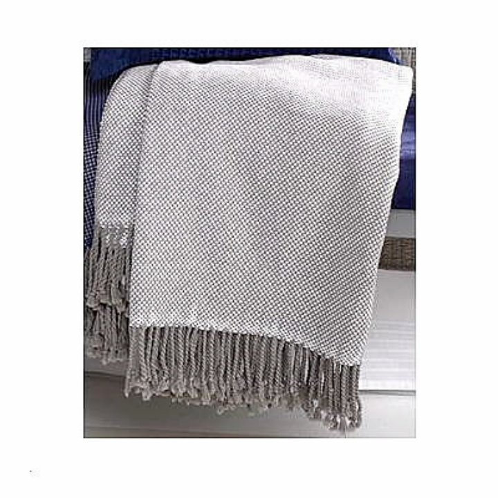 Katie Brown Northern Shores Woven Check Knit Throw Blanket