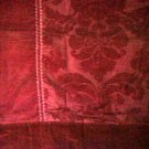 Wine Velvet Curtains Valance